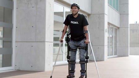 Robot exoesqueleto utilizado en México para rehabilitar la columna