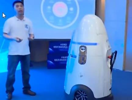 El robot policía Anbot que se prevé utilizar en colegios y bancos